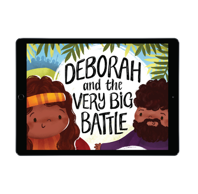 Download the full-size illustrations - Deborah and the Very Big Battle